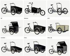 виды европейских трициклов