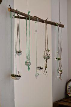 Netz Selber Machen kleiner hängegarten und anleitung für ein netz aus makramee idee