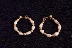 Genuine Fresh Water Pearl and Gold Bead 14Karat by TKSPRINGTHINGS, $139.95