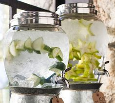 Flavored Party Drinks | Pottery Barn-- Metal Spigots- not plastic! $59.00