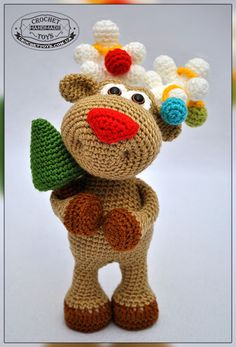 Crochet Christmas deer. This baby is in a hurry to decorate your home, to make it a festive mood and to give a lot of positive emotions!