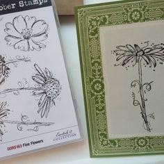 Darkroom Door Fine Flowers Rubber Stamps