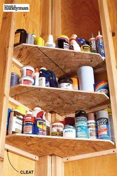 There are no shortage of ideas on how to clean up your garage. Here are 50 ways to clean up your garage that can help get you started down the path of cleaning up an eyesore. Storage Shed Organization, Garage Storage Shelves, Workshop Storage, Corner Shelves, Storage Ideas For Garage, Garage Workshop Organization, Barn Storage, Storage Room, Craft Storage