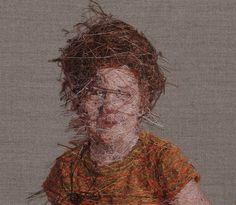 New Photorealistic Portraits Hand Embroidered by Cayce Zavaglia portraits embroidery