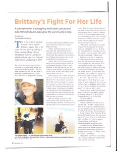 Wrote for a magazine and helped a friend Brittany, Medicine, Cancer, Magazine, Writing, Friends, Life, Amigos, Medical