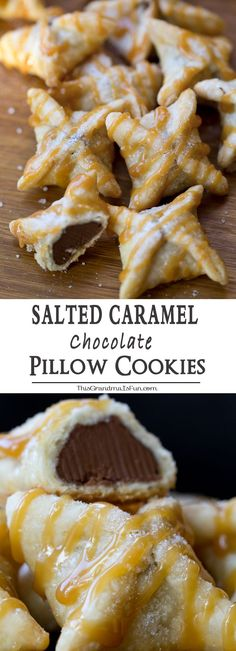 Salted Caramel Chocolate Pillow Cookies (Chocolate Desserts)