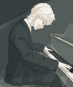 Adrien playing the piano (Miraculous Ladybug)
