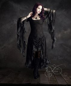 Hey, I found this really awesome Etsy listing at https://www.etsy.com/listing/205998539/cassiel-gothic-wedding-dress-black-lace
