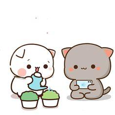 Cute Cartoon Images, Cute Cartoon Drawings, Cute Love Cartoons, Kawaii Drawings, Cute Cartoon Wallpapers, Cute Love Gif, Cute Love Pictures, Cute Anime Cat, Cute Cat Illustration