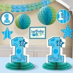 baby boy birthday decor