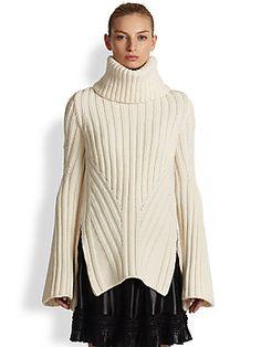 Alexander McQueen Funnel Neck Wool & Cashmere Sweater -- From saksfifthavenue.com