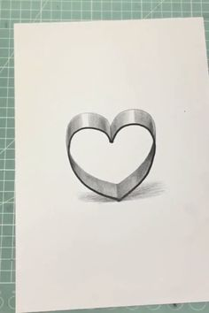 How to draw a Heart ❤ Heart Pencil Drawing, Cute Heart Drawings, 3d Pencil Art, 3d Pencil Sketches, Love Heart Drawing, Cute Drawings Of Love, Art Drawings For Kids, Pencil Art Drawings, Art Drawings Sketches