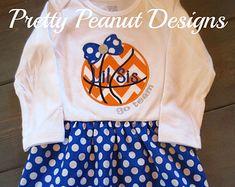 Custom Girl Basketball Dress, Bow & Leg Warmers - made to match your team!