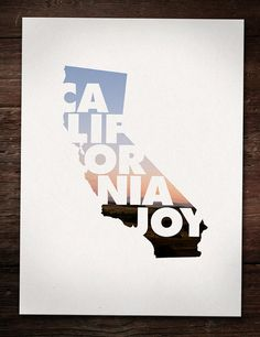 California Joy poster by Geographic Designer