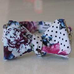 polka dot rose bow tie by edward kwan