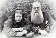 """Helena Petrovna Blavatsky (born as Helena Gan 12 August 1831 – 8 May 1891) was a scholar of ancient wisdom literature who along with H.S Olcott & Anagarika Dharmapala was instrumental in the Western transmission & revival of Theravada Buddhism. In 1875 Blavatsky & Olcott established a research and publishing institute called the Theosophical Society. Image---Madam Blavatsky & Henry Steel Olcott, """"There is no religion higher than truth."""""""