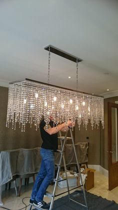This is a beautidul crystal chandelier that we designed, supplied and installed. Featuring luxurious egyptian crystals on an italian made frame, this chandelier oozes elegance.