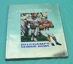 Mobile AL 51st Annual Delchamps Super Bowl Football Jan 22 Program Vintage