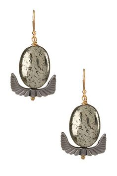Supernova Pyrite Earrings by Heather Kahn on @HauteLook