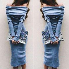 2016 New Women Autumn Lady Long Sleeve Long Maxi Bodycon Sexy Club Dress
