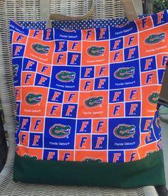 Florida Gators, University of Florida, Tote Bag, Purse, College Sports, Custom Shopping Bag, Cotton Market Bag, web straps, Reusable Bag by designsbyfancyrose on Etsy