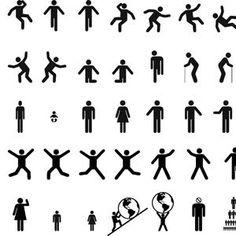 Man & Woman Sign Pictograms vector   FreeVectors.net
