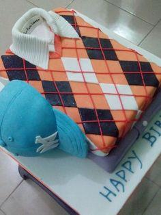 Polo shirt  and Base ball cap cake