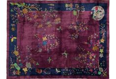 "Art Deco Chinese Carpet, 8'10"" x 11'6"""