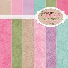 FREE printable scrapbooking papers vintage patterned
