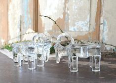 Kosta Boda by Bertil Vallien. Yule Goat, Kosta Boda, Scandinavian Modern, Christmas Design, Glass Design, Goats, Candle Holders, Candles, Table Decorations