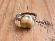 Tooth ring. (Relax, it's a denture tooth!) ;)   http://www.sarustar.com/product/tooth-ring