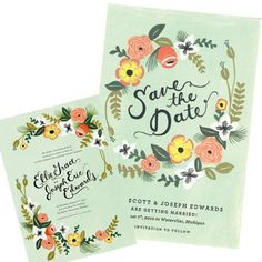 wedding invitation and save the date rifle paper