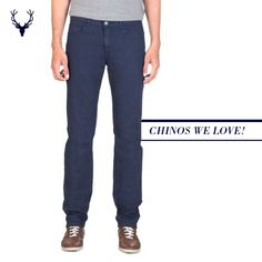 Chinos don't always have to be in military khaki colours. Break the norm. Go vibrant with Allen Solly chinos!