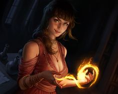 mirhiban by chazillah fire mage wizard priestess