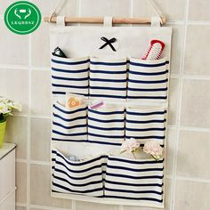 Sundry Cotton Wall Hanging Organizer Bag Multi-layer Holder Storage Bag Home Decoration Makeup Rack Linen Jewelry 5 Aad 8 Pocket - Online Shopping Destination with High-Quality Hanging Makeup Organizer, Wall Hanging Storage, Diy Hanging, Container Organization, Wall Organization, Storage Containers, Pocket Organizer, Fabric Storage, Shoe Storage