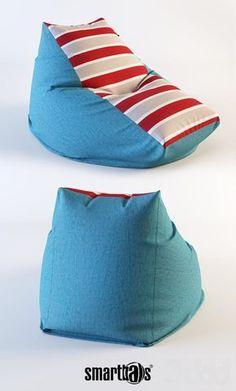 "Кресло-мешок ""Трапеция"" / от российской компании Smartballs. Sewing Hacks, Sewing Crafts, Sewing Projects, Kids Pillows, Sofa Pillows, Bean Bag Pattern, Diy Bean Bag, Rock Decor, Floor Cushions"