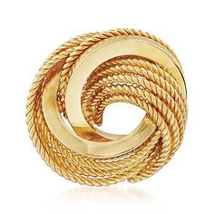 Ross-Simons - C. 1990 Vintage Tiffany Jewelry 18kt Yellow Gold Spiral Circle Pin - #883369
