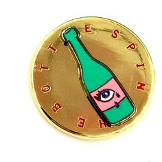 'Spin The Bottle' Pin