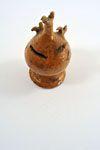Money Box   Small money box, chicks design, clear glaze  Location: On Display  Dimensions: H 14cm x W 7cm  Date: 19th. Century  Company: Verwood potteries  www.burtonartgallery.co.uk