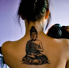 Sick Buddha tattoo! I want it so bad! But on the back of my neck and smaller.