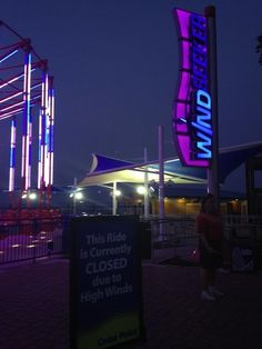 Ride called Windseeker closed due to high winds
