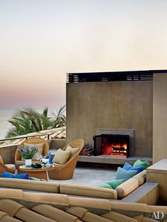 Outdoor Fireplace and Fire Pit Inspiration | Architectural Digest