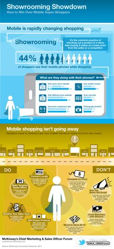 Showrooming showdown. #infographic