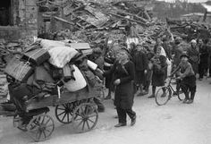 January 26, 1945: The Soviets under Marshal Rokossovsky reach the Baltic north of Elbing, completely cutting off the remaining Germans in East Prussia. From a Nazi report from Koenigsberg:        It's night as we leave the house. On the old road to Pillau the wagon wheels grind endlessly as they pass by. Alongside, people of every age and position pull their sledges or push fully laden prams. No one looks back. (Kershaw)