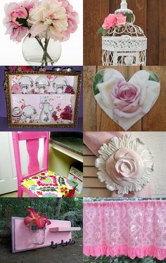 Pink Decor by Sandra on Etsy--Pinned with TreasuryPin.com