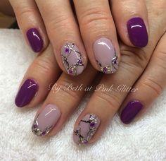 Purple Embossing by PinkGlitter - Nail Art Gallery nailartgallery.nailsmag.com by Nails Magazine www.nailsmag.com #nailart