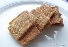 Grain Free Crackers made with Sesame and Sunflower Seeds