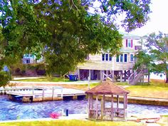 New print available on lanjee-chee.artistwebsites.com! - 'Beautiful waterfront home  2' by Lanjee Chee - http://lanjee-chee.artistwebsites.com/featured/beautiful-waterfront-home-2-lanjee-chee.html via @fineartamerica
