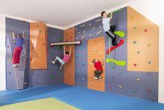 gym games for kids basement gym ideas kids gym equipment climbing wall - Sport Geräte - Home Gym Home Gym Decor, At Home Gym, Kids Gym Equipment, Kids Basement, Basement Ideas, Basement Bathroom, Gym Games For Kids, Kids Fun, Indoor Gym