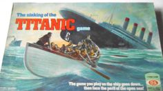 The Sinking Of The Titanic Board Game by Ideal 1976 Vintage Family  #Ideal